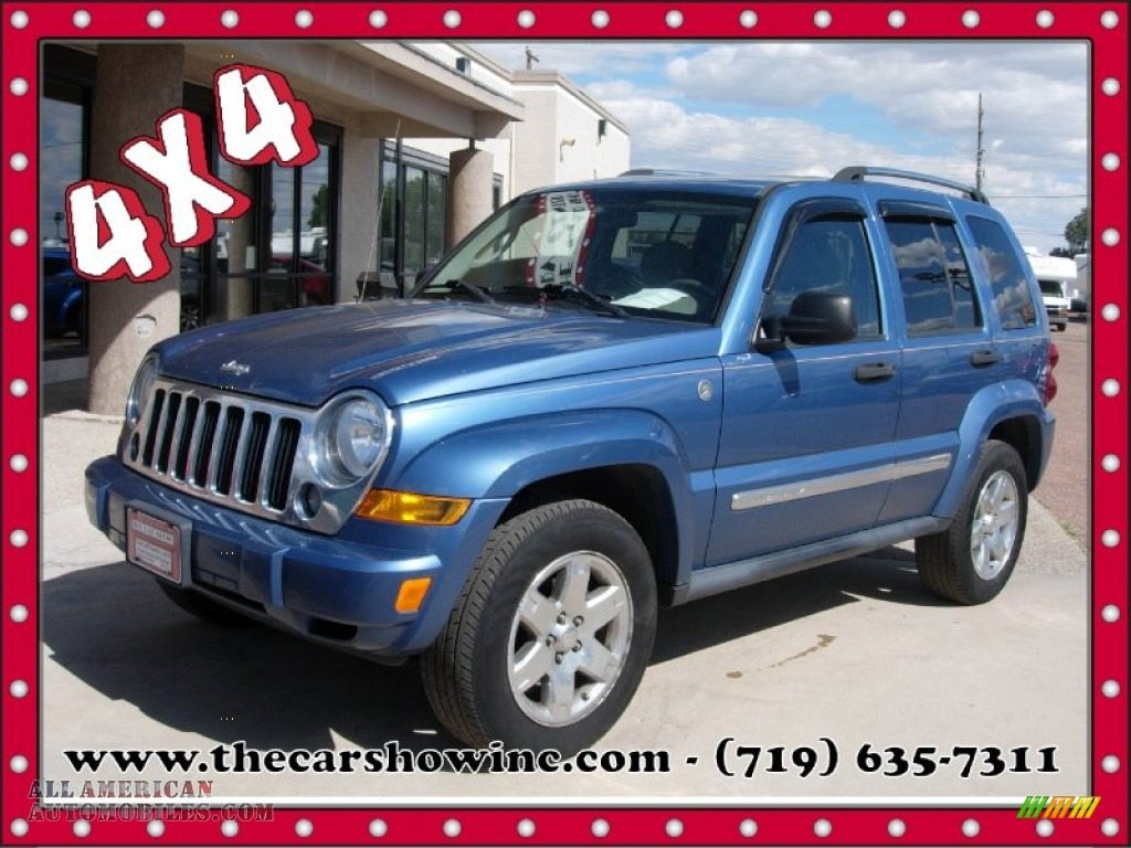 2005 Jeep Liberty Limited 4x4 In Atlantic Blue Pearlcoat 507300 Medium Slate Gray