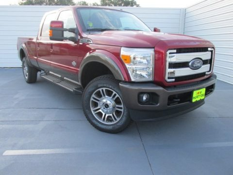 Ruby Red 2015 Ford F350 Super Duty King Ranch Crew Cab 4x4