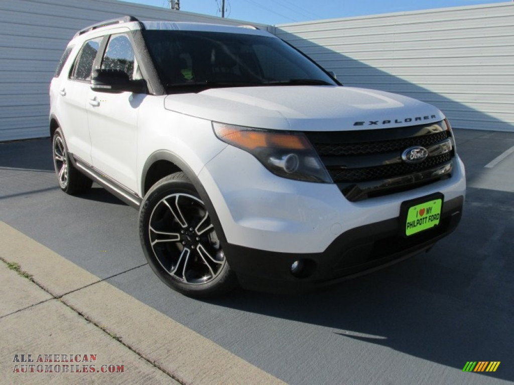 2015 ford explorer sport 4wd in white platinum a86061 all american automobiles buy. Black Bedroom Furniture Sets. Home Design Ideas