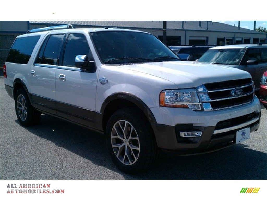 2015 ford expedition el king ranch in white platinum. Black Bedroom Furniture Sets. Home Design Ideas