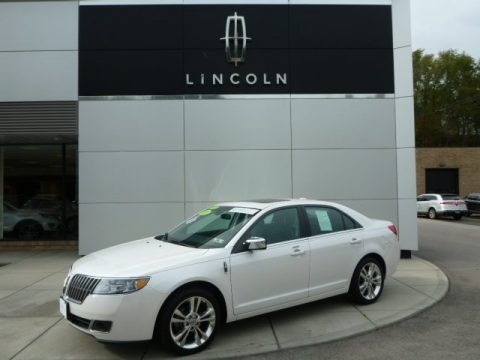 White Platinum Metallic Tri-Coat 2012 Lincoln MKZ AWD