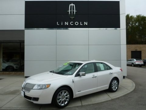 White Platinum Metallic Tri-Coat 2012 Lincoln MKZ Hybrid
