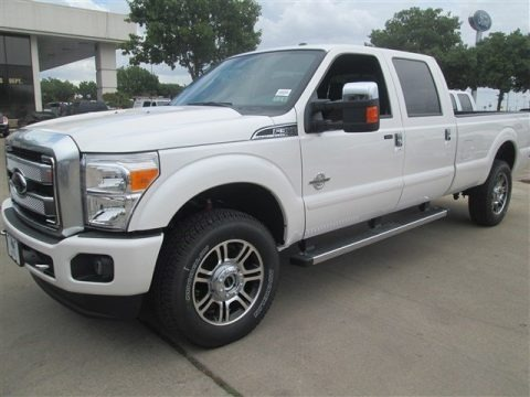 White Platinum 2015 Ford F350 Super Duty Platinum Crew Cab 4x4