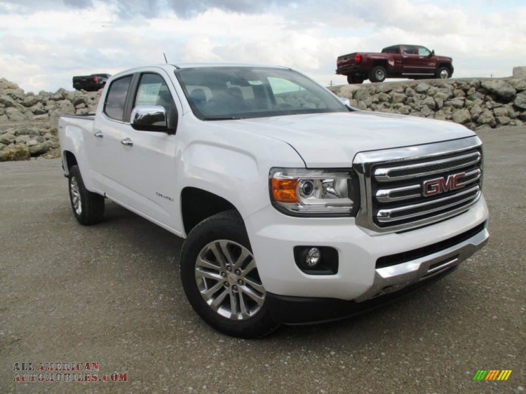 2015 gmc canyon slt crew cab 4x4 in summit white photo 5 124217 all american automobiles. Black Bedroom Furniture Sets. Home Design Ideas