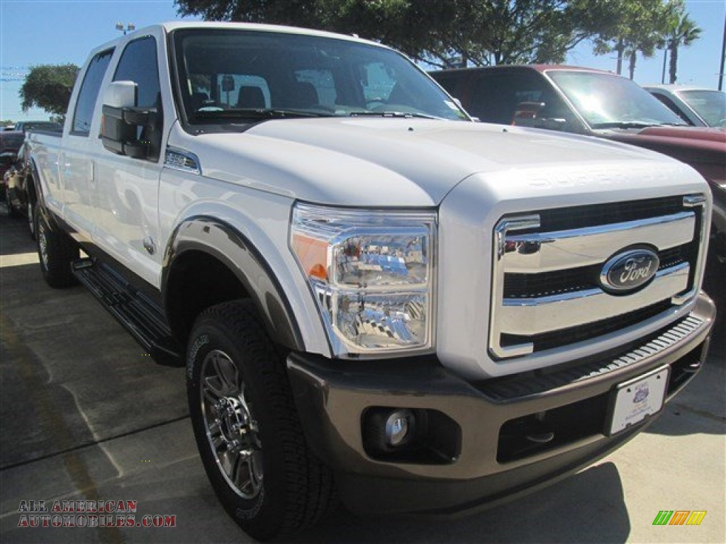 2015 ford f350 super duty king ranch crew cab 4x4 in white platinum b59872 all american. Black Bedroom Furniture Sets. Home Design Ideas