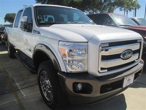 White Platinum 2015 Ford F350 Super Duty King Ranch Crew Cab 4x4