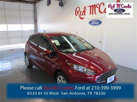 Ruby Red Metallic 2015 Ford Fiesta SE Hatchback
