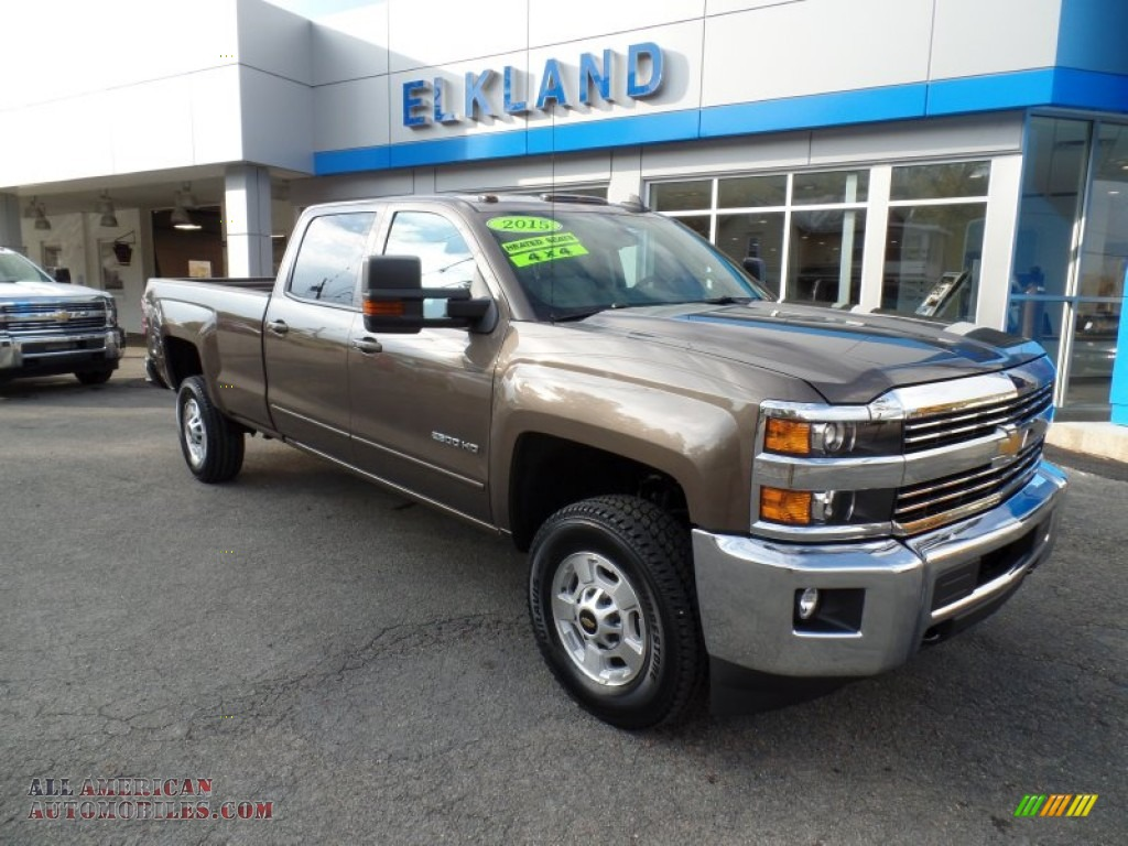 2015 chevrolet silverado 2500hd lt crew cab 4x4 in brownstone metallic 524983 all american