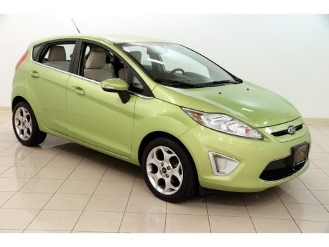 Lime Squeeze Metallic 2011 Ford Fiesta SES Hatchback