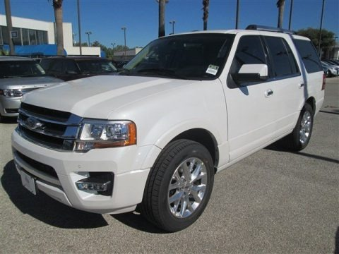 White Platinum Metallic Tri-Coat 2015 Ford Expedition Limited