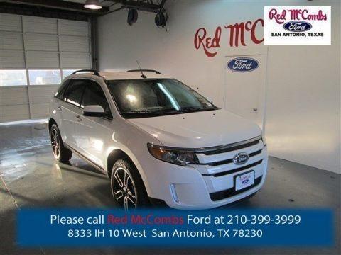 White Platinum 2014 Ford Edge SEL