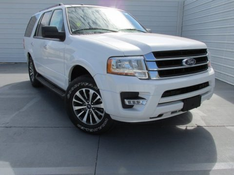 White Platinum Metallic Tri-Coat 2015 Ford Expedition XLT