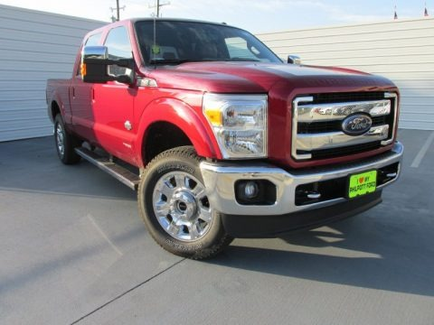 Ruby Red 2015 Ford F250 Super Duty King Ranch Crew Cab 4x4