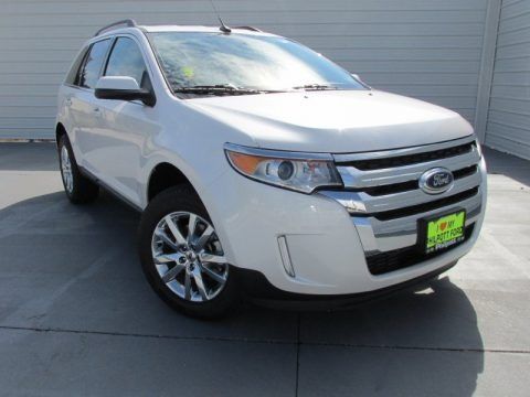White Platinum 2014 Ford Edge Limited