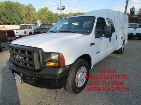 Oxford White Clearcoat 2007 Ford F250 Super Duty XL Crew Cab