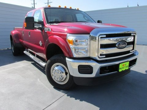 Ruby Red 2015 Ford F350 Super Duty XLT Crew Cab 4x4 DRW