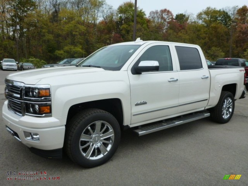 2015 chevrolet silverado 1500 high country crew cab 4x4 in white diamond tricoat 143158 all. Black Bedroom Furniture Sets. Home Design Ideas