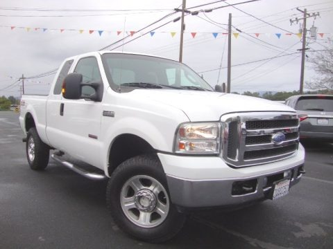 Oxford White 2005 Ford F350 Super Duty Lariat SuperCab 4x4
