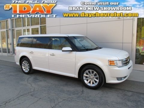 White Platinum Tri-Coat 2009 Ford Flex SEL