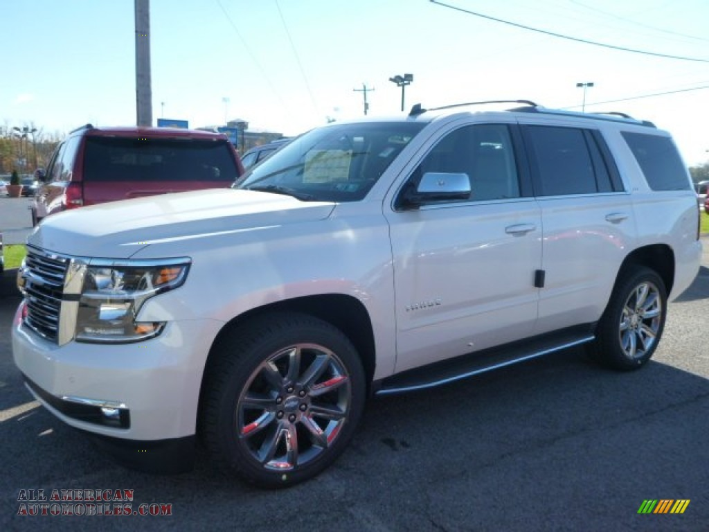 2015 chevrolet tahoe ltz 4wd in white diamond tricoat 300223 all american automobiles buy. Black Bedroom Furniture Sets. Home Design Ideas