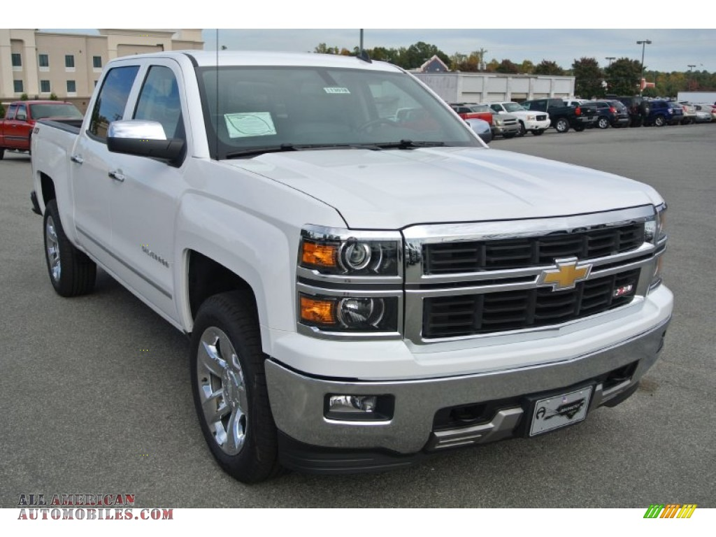 2014 chevrolet silverado 1500 ltz z71 crew cab 4x4 in summit white 551795 all american. Black Bedroom Furniture Sets. Home Design Ideas