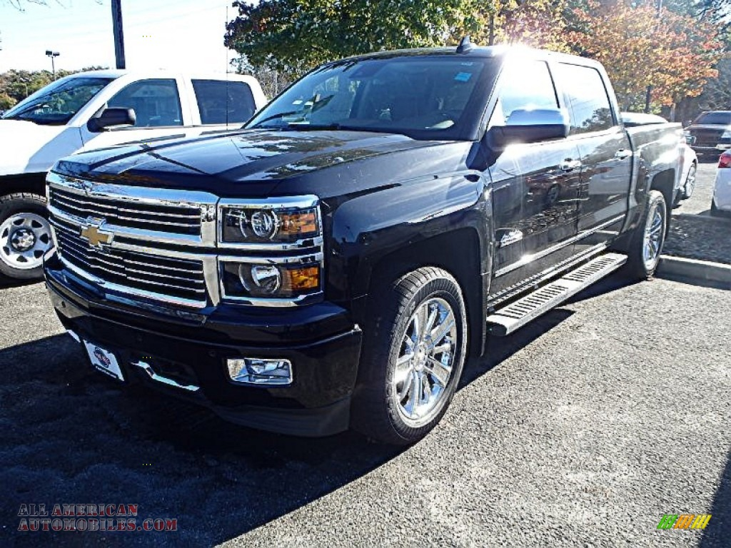 2015 chevrolet silverado 1500 high country crew cab 4x4 in black 118073 all american. Black Bedroom Furniture Sets. Home Design Ideas
