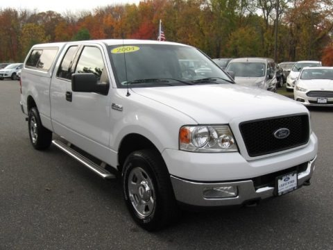 Oxford White 2004 Ford F150 XLT SuperCab 4x4