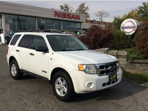 Oxford White 2008 Ford Escape Hybrid 4WD