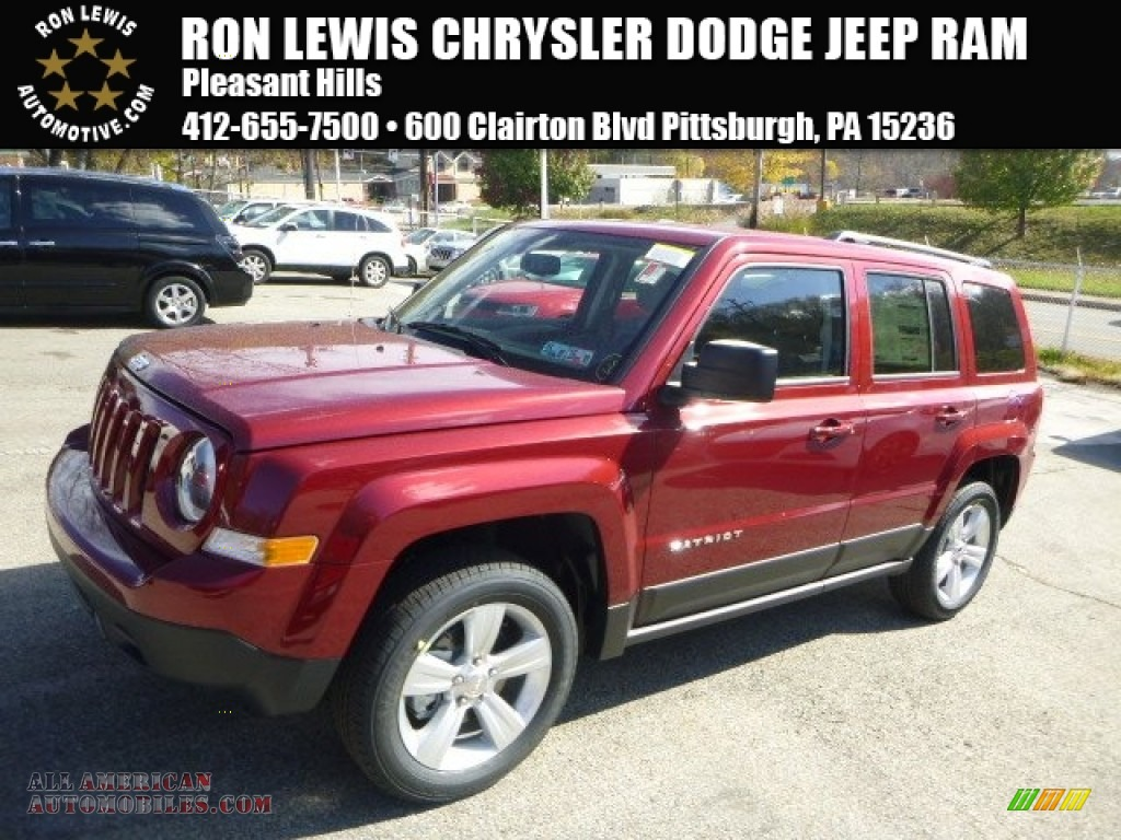 2015 jeep patriot latitude 4x4 in deep cherry red crystal pearl 168866 all american. Black Bedroom Furniture Sets. Home Design Ideas