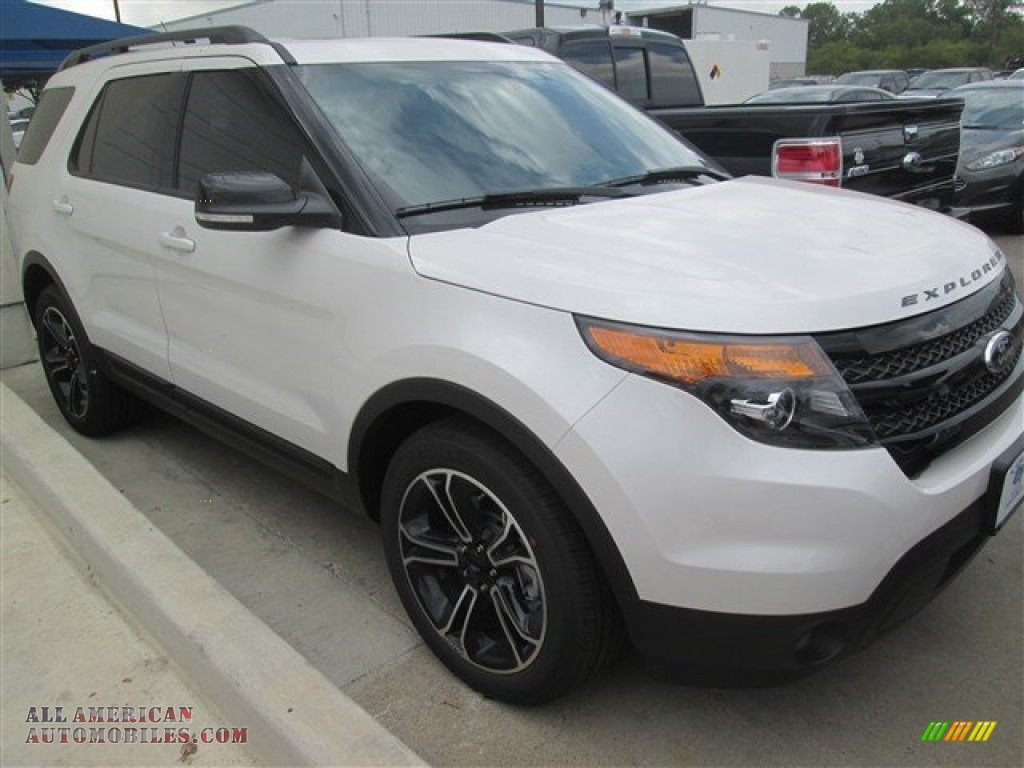 2015 ford explorer sport 4wd in white platinum b01466 all american automobiles buy. Black Bedroom Furniture Sets. Home Design Ideas