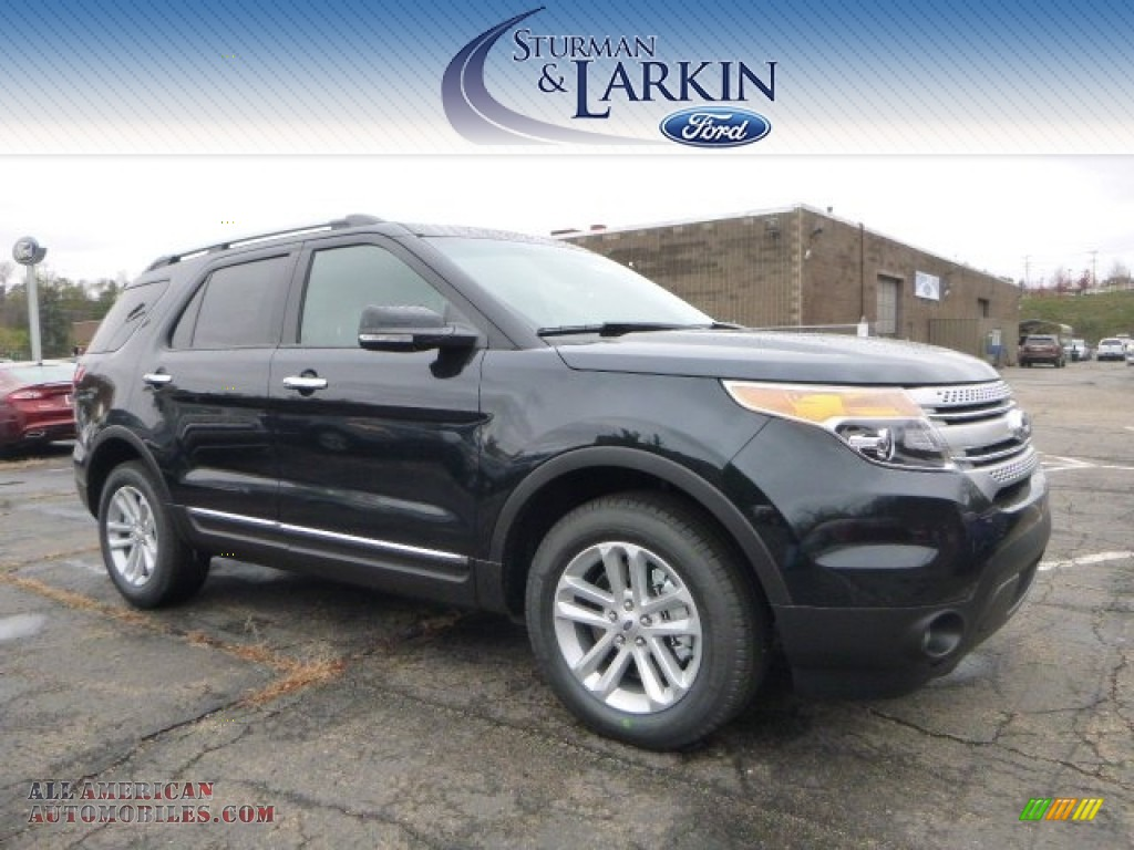 Dark side charcoal black ford explorer xlt 4wd