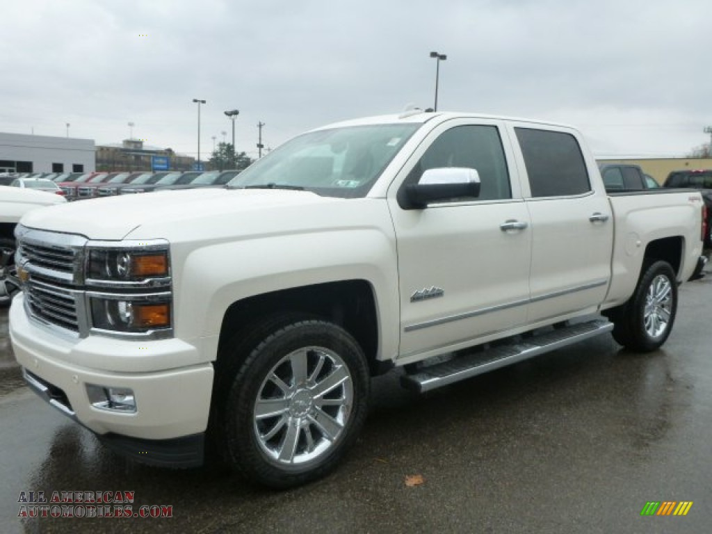 2015 chevrolet silverado 1500 high country crew cab 4x4 in white diamond tricoat 166051 all. Black Bedroom Furniture Sets. Home Design Ideas