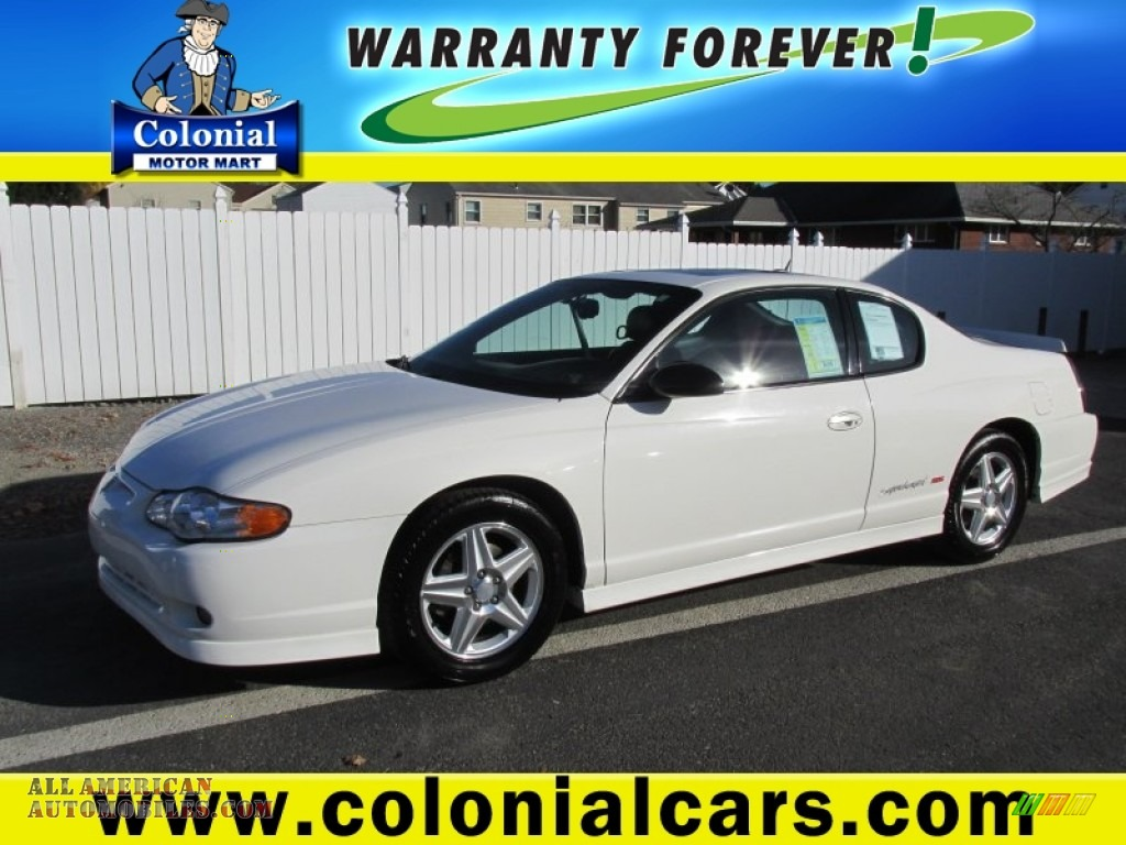 2005 Chevrolet Monte Carlo Supercharged Ss In White Photo
