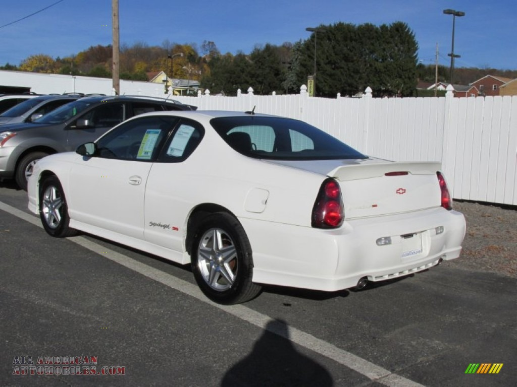 2005 chevrolet monte carlo supercharged ss in white photo 5 244510 all american automobiles. Black Bedroom Furniture Sets. Home Design Ideas