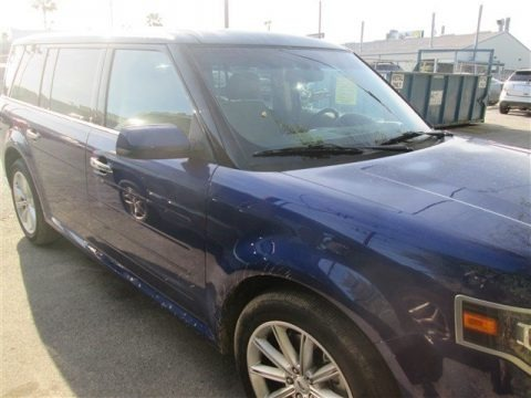 Deep Impact Blue 2014 Ford Flex Limited