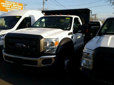 Oxford White 2015 Ford F550 Super Duty XL Regular Cab 4x4 Dump Truck