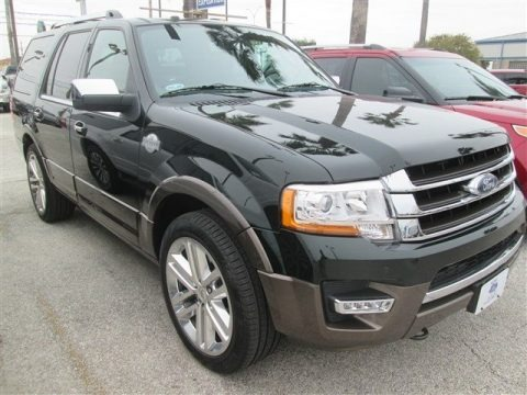 Green Gem Metallic 2015 Ford Expedition King Ranch 4x4