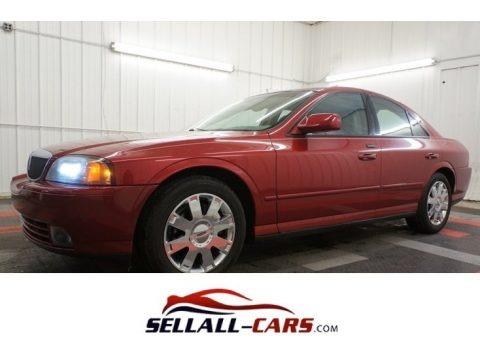 Autumn Red Metallic 2004 Lincoln LS V8