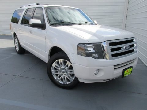 White Platinum Tri-Coat 2011 Ford Expedition EL Limited