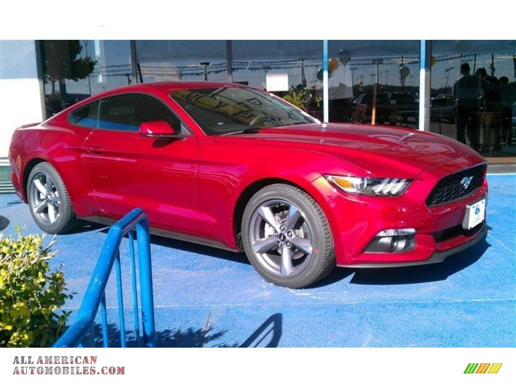 2015 ford mustang v6 coupe in ruby red metallic 318231 all american automobiles buy. Black Bedroom Furniture Sets. Home Design Ideas