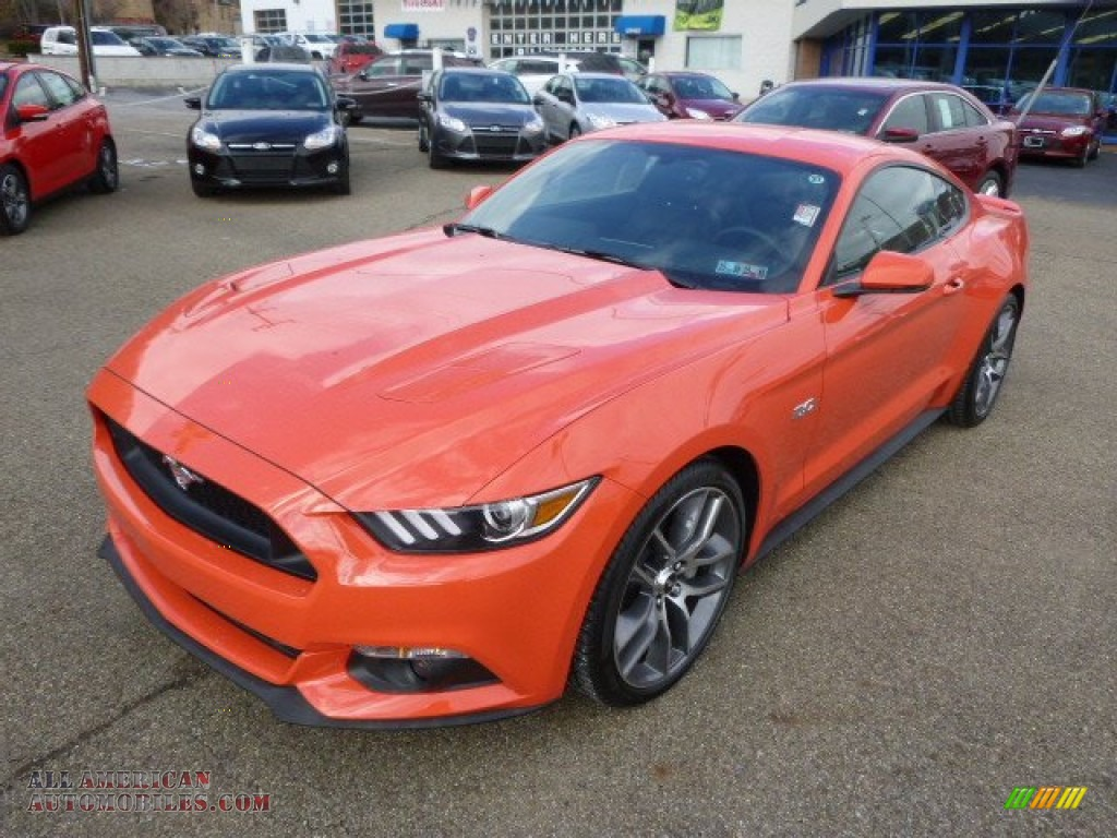 2015 ford mustang gt premium coupe in competition orange. Black Bedroom Furniture Sets. Home Design Ideas