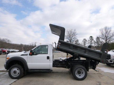 Oxford White 2015 Ford F450 Super Duty XL Regular Cab Dump Truck