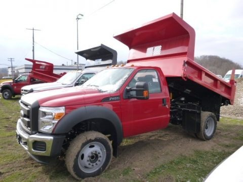 Vermillion Red 2015 Ford F450 Super Duty XL Regular Cab Dump Truck 4x4