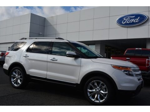 White Platinum 2015 Ford Explorer Limited