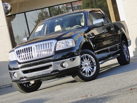 Black Clearcoat 2007 Lincoln Mark LT SuperCrew 4x4