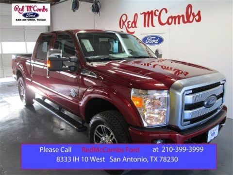 Ruby Red 2015 Ford F250 Super Duty Lariat Crew Cab 4x4