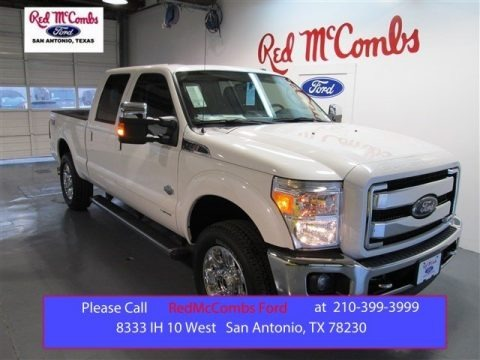 White Platinum 2015 Ford F250 Super Duty King Ranch Crew Cab 4x4