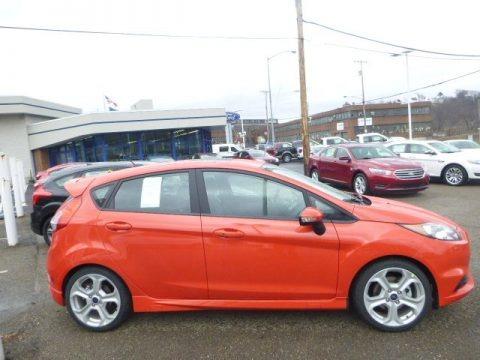Molten Orange 2015 Ford Fiesta ST Hatchback