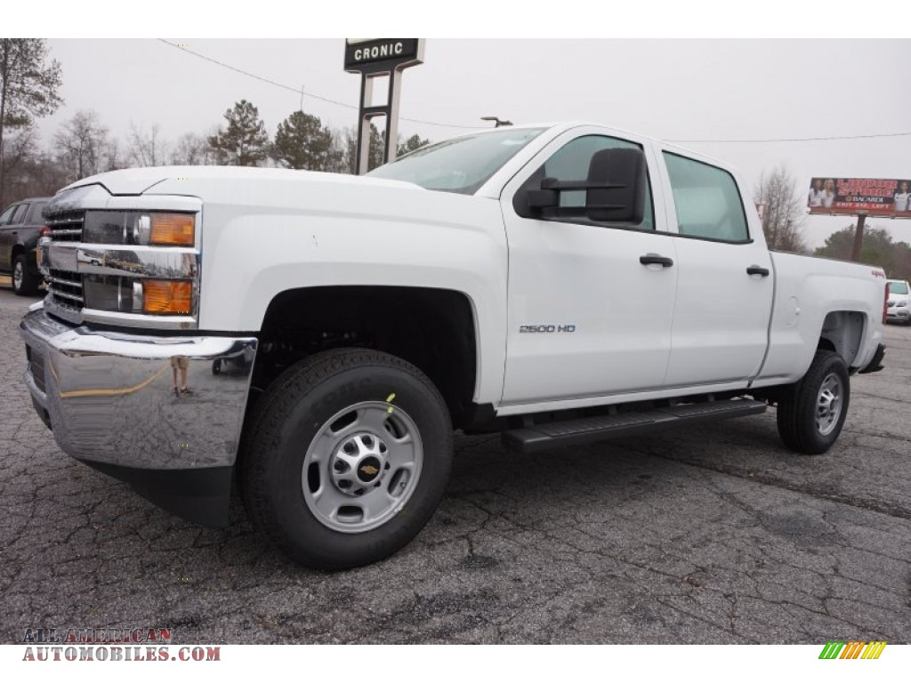 2015 chevrolet silverado 2500hd wt crew cab 4x4 in summit white photo 3 539260 all american. Black Bedroom Furniture Sets. Home Design Ideas