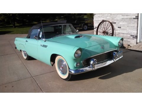 Thunderbird Blue 1955 Ford Thunderbird Convertible